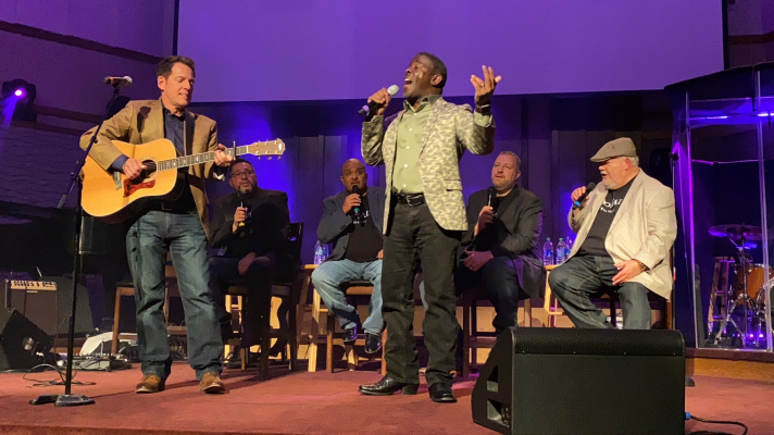 A'Men sings back-up for Todd Suttles